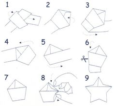 How To Fold Origami Lucky Star Cute Mammoth