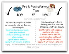 Benefits of Ice vs. Heat -Post-Workout