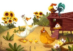 A day at the farm on Behance