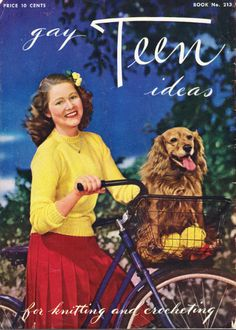 Ravelry: Spool Cotton Co. Gay Teen Ideas for Knitting and Crocheting Vintage Humor, Vintage Ads, Funny Vintage, Vintage Crafts, Vintage Ephemera, Vintage Stuff, Girl And Dog, Vintage Advertisements, Retro Advertising