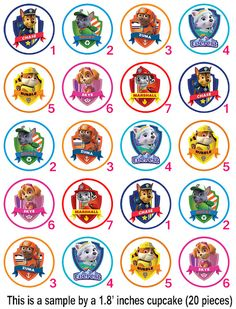 Paw Patrol Family Edible Cupcake Topper (no personalization text is possible here) - Edible Prints On Cake (Edible Cake &Cupcake Topper) Paw Patrol Cupcake Toppers, Paw Patrol Cupcakes, Edible Cupcake Toppers, Paw Patrol Cake, Paw Patrol Party, Birthday Cake Toppers, Edible Cake, Po Patrol, Paw Patrol Tv Show