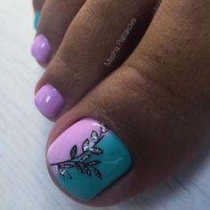 Gel Toe Nails, Simple Toe Nails, Pretty Toe Nails, Summer Toe Nails, Cute Toe Nails, Feet Nails, Toe Nail Art, Gel Toes, Feet Nail Design