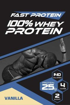 Vanilla Whey Protein Powder by Fast Protein! Best Whey for post-workout, healthy snack, protein shake, protein smoothie, breakfast protein powder pancake, and more. Our uniquely formulated Vanilla Protein Powder provides 25g of pure protein in one scoop to help you build muscle and improve recovery. 25g protein per scoop 5.64g BCAAs and 11.9g EAAs- Build muscle and boost energy Only 140 Calories per scoop - 100% Whey 2 g natural sugar per scoop. No sugar added Only 5 ingredients: No hormone… Protein Powder Pancakes, Vanilla Whey Protein Powder, Best Protein Powder, Protein Meal Replacement, Protein Supplements, Vanilla Flavoring, Protein Shakes, Post Workout