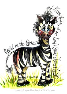 Grow in grace Zebra Print