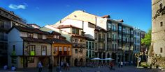 San Francisco street, Avilés, Asturias, Spain
