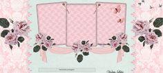 Violeta lilás Vintage: Template Rosas Delicadas - Free