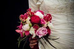 Bruidsboeket: roze rood