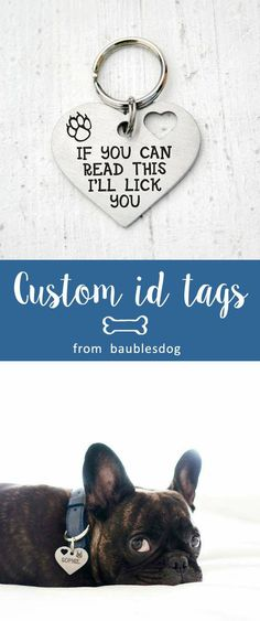 heart Dog Tag, Customized Pet ID Tag Name Tags, custom two-sides tag, dog tag, id tag for dogs, id tag for cat, dog lover gift, Customized Pet ID Tag, dog collar, id tag design, id tag diy, keep calm and call my mom, have your people call my people, call my mom before she freaks out, if you can read this i will lick you