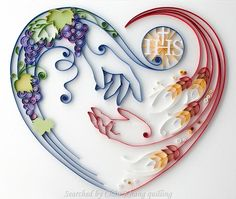 @ Anna Chiara Valentini- Quilled heart pictures (Searched by Châu Khang)
