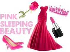 """pink sleeping beauty"" by princess-kirstin ❤ liked on Polyvore"
