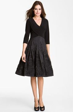 Thinking I need this!  Adrianna Papell Rosette Mixed Media Dress available at #Nordstrom