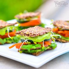 FullyRaw Sandwich Sliders! The perfect treat for you to eat!  New recipe video here: http://youtu.be/a25JOwpTvaI