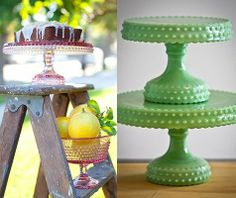 These are the most darling little cake stands...