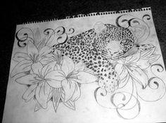 sleepy leopard and lillies by ~brittneystar on deviantART