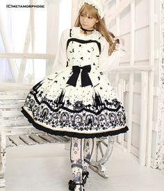 Cinderella ~ small glass shoes ~ mini jumper skirt | metamorphose temps de fille - gothic & lolita fashion in Japan