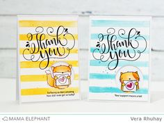moccavanila by vera rhuhay: Thank You Wishes | 3 Amigos | Watercolor: GANSAI TAMBI | (on ME + Ideas my Supp + WC2)