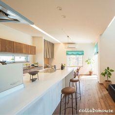 3個前にアップしたお家の別角度の写真。 ・ キッチン上の掘り込んだ照明や窓位置こだわりあり。 #キッチン #ダイニング #オープンキッチン #キッチン収納 #造作 #キタワークス #家づくり #新築 #注文住宅 #設計士と直接話せる #設計士とつくる家 #コラボハウス #インテリア #愛媛 #香川