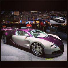 Purple and silver Bugatti Veyron!