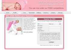Mums-Only Private Club displaying Offers from Mothercare, Boots, Heinz, etc. Above - a registration following gift voucher competition from Mothercare