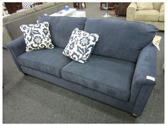 METRO MODERN INDIGO 3- SEATER COUCH Decor, Seater, Furniture, Sofa, Home, Couch, Modern, Home Decor, Furniture Auctions