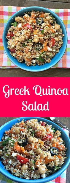 greek quinoa salad with feta