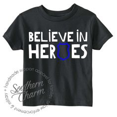 Believe in Heroes Youth Top - Southern Charm Designs