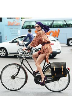 Skyscraper Heels and Kimonos: Catherine Baba and her Bike Style