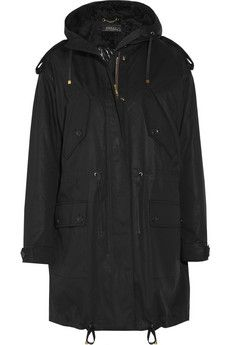 Gucci | Hooded shearling-lined cotton-twill parka | NET-A-PORTER.COM