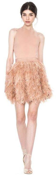 Love this feathered dress....Alice + Olivia Alice + Olivia Philomena Feather Dress  #spring#springfashion#springoutfits