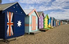 """See 1361 photos and 64 tips from 8211 visitors to Brighton Beach. """"tis is a MUST place to drop by if ure in Melbourne.the mini colourful huts are. Australia Beach, Australia Travel, Melbourne Australia, Victoria Australia, World Of Color, Color Of Life, Brighton Beach Melbourne, Melbourne Victoria, Beach Bungalows"""