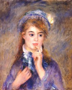 Pierre Auguste Renoir (french, 1841-1919)- The ingenue -c.1876