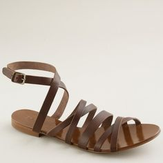 Deseree leather sandals ($88) ❤ liked on Polyvore