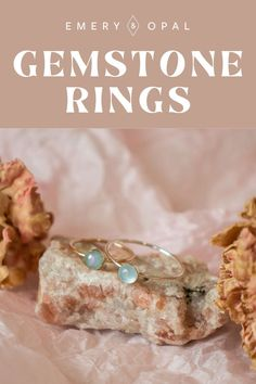 Which birthstone would you wear on your dainty gemstone ring? #gemstones #birthstonering #aquamarinering