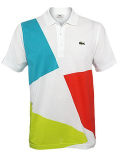 Lacoste Men's Summer Geometric Pique Polo