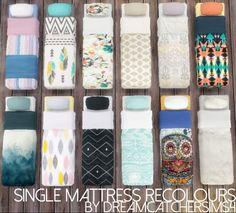 Single Mattress Recolours at DreamCatcherSims4