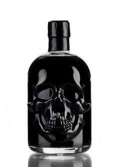 Absinthe Black Head - Price : $35 - A black absinthe with an unusual bottle shape - a true eye-catcher! Alcohol Bottles, Liquor Bottles, Perfume Bottles, Skull Decor, Skull Art, Absinthe, Gothic House, Men Accessories, Black And White