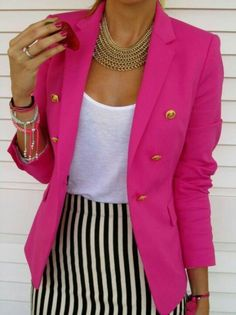 Love bold colors in outfits