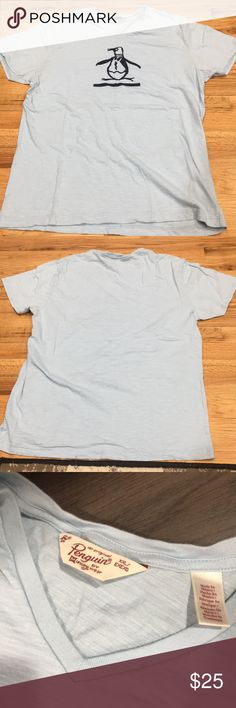 Penguin Giant Logo V-Neck Shirt Penguin V-Neck shirt worn once. In excellent condition from a smoke free home. Original Penguin Shirts Tees - Short Sleeve