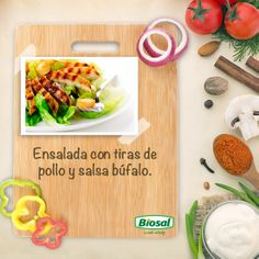 Si te gusta el picante, esta ensalada con tiras de pollo y salsa búfalo te encantará.  http://www.hoycambio.com/articulos/4/544/ensalada_con_pollo_y_salsa_bufalo._.html