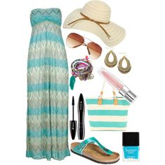 """""""Love the Beach"""" by elinenagelhout on Polyvore"""