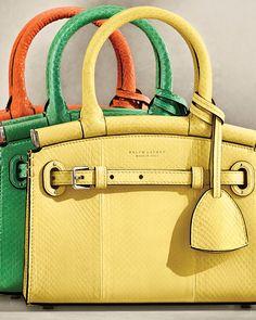 The Mini RL50 Handbag is reimagined in bold hues. #RalphLauren Polo Sweater, Ralph Lauren Collection, Clutch Purse, Amazing Women, Handbags, Purses, Clothes For Women, Mini, Accessories