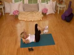 Tracy Anderson post pregnancy ab workout. Even if you haven't had a baby post pregnancy workouts are great because they are designed to knit your muscles together and keep them close to your skin aka, anti sag, cellulite and stretch marks