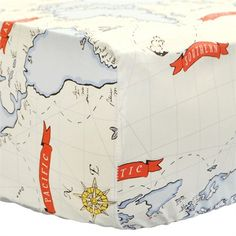 Out to Sea in Blue Crib Sheet by New Arrivals Inc., Crib Sheets, Bedding for Boys