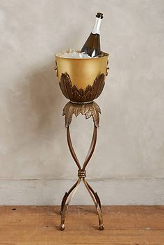 Anthropologie EU Rosecliff Champagne Bucket. Opt for a touch of opulence with this Rosecliff Champagne Bucket, exclusive to Anthropologie. Beautifully handcrafted from brass, this stand alone piece will add the finishing touch to occasions.