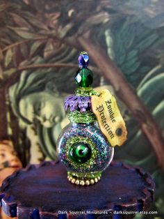 Zombie Elixir potion dollhouse miniature in one by DarkSquirrel, $15.00
