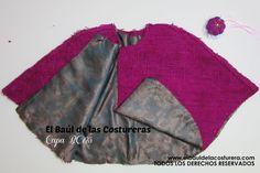 Confección de capa fácil para el invierno con lana de oveja. Moldería e instrucciones de corte y confección.
