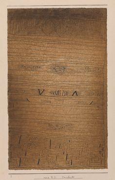 Paul Klee, Inscription, 1926