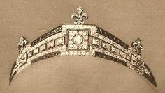 The Countess of Paris' Art Deco Tiara, France (1931; made by Mellerio & Meller; sapphires, diamonds, white gold).