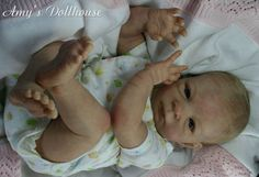 Amys Dollhouse Lifelike Reborn Baby Sold Out Le O AuerAmy MRMH Tummy Plate | eBay