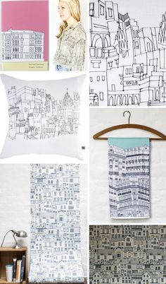 Street Patterns: Architectural Prints. Could be displayed on hangers?